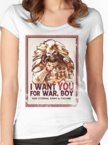 I Want YOU for WAR, BOY (dark colors) Women's Fitted Scoop T-Shirt