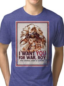 I Want YOU for WAR, BOY (dark colors) Tri-blend T-Shirt
