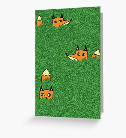In the leaves - Foxes Greeting Card