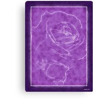 Pink Roses in Anzures 2 Outlined Purple Canvas Print