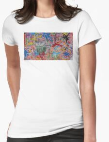 FIRE/WORKS - LARGE FORMAT - HORIZONTAL Womens Fitted T-Shirt