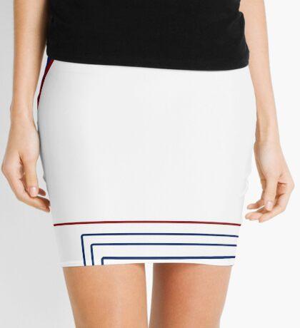 Blue and Red Modern Fashion Mini Skirt