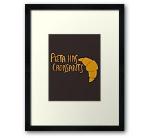 Peeta Has Croissants - Yellow Framed Print