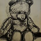 Teddybear, on A4  sketching paper by Saskia Cox-Steenbergh