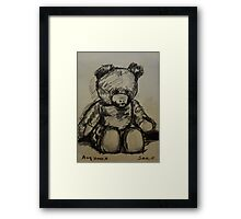 Teddybear, on A4  sketching paper Framed Print