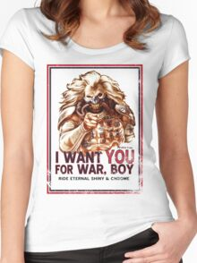 I Want YOU for WAR, BOY Women's Fitted Scoop T-Shirt