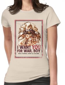 I Want YOU for WAR, BOY Womens Fitted T-Shirt