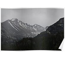 Black and White Mountain Poster