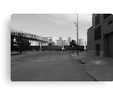 Denver in black and white Canvas Print