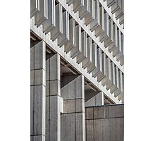 Concrete Architecture Boston City Hall Photographic Print