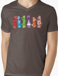 Pop Otters Mens V-Neck T-Shirt