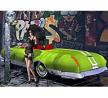 Melbourne Grafitti & Kanaa Mucle Car - modeled Photographic Print