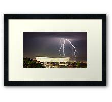 2010 Stadium & Storm Framed Print