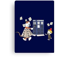Doctor and Daleks Canvas Print