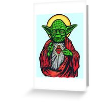 Holy Jedi Master Greeting Card