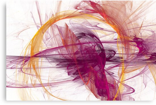 Abstract in Purple, Pink and Yellow by Kelly Gammon