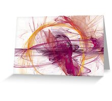 Abstract in Purple, Pink and Yellow Greeting Card