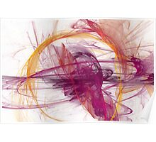 Abstract in Purple, Pink and Yellow Poster