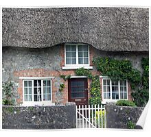 Thatched Roof House in Ireland Poster