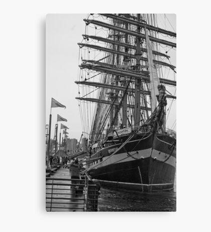 Tall Ship BW Canvas Print
