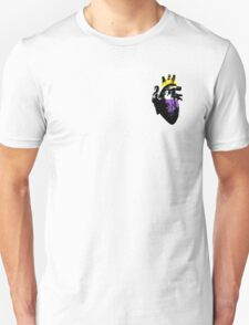 Nonbinary Pride Heart (with black detail) T-Shirt