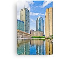 Reflection Pond In The City Of Boston Canvas Print
