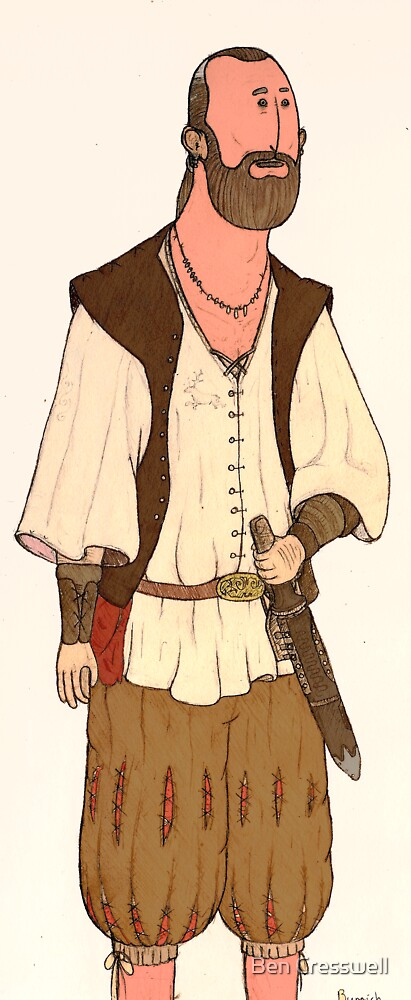 Burrich the stablemaster (colour) by Ben Cresswell