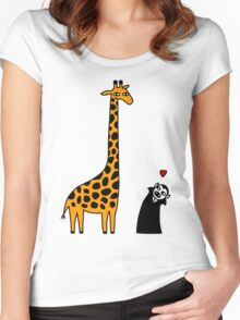 Dracula Visits Africa Women's Fitted Scoop T-Shirt