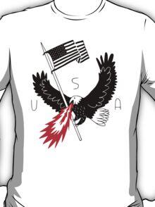 FIRE BREATHING BALD EAGLE OF PATRIOTISM T-Shirt