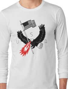 FIRE BREATHING BALD EAGLE OF PATRIOTISM Long Sleeve T-Shirt
