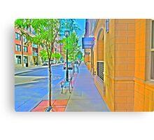 Denver city streets Canvas Print
