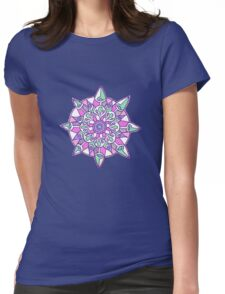 Mandala: Lilac/Mint Womens Fitted T-Shirt