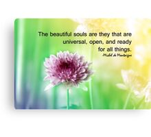 beautiful souls Canvas Print