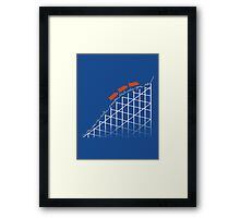 I'm on a roller coaster that only goes up (dark shirts) Framed Print