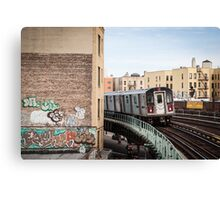 Incoming Number 2 Train Canvas Print