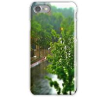 Rainstorm from the balcony iPhone Case/Skin
