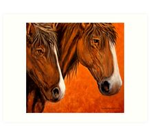 Fresh Water For My Horses Art Print
