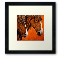 Fresh Water For My Horses Framed Print