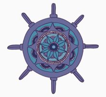 Mandala Mast: Blue/Purple  One Piece - Long Sleeve