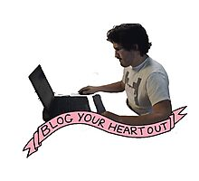 Markiplier: Blog Your heart out Photographic Print