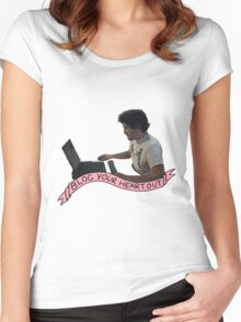Markiplier: Blog Your heart out Women's Fitted Scoop T-Shirt