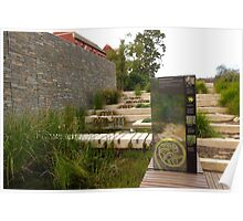 Conservation Area for native water plants. Botanic Gardens.  Poster