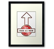 FEED ME NOW - THE ART OF EATING Framed Print