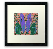 Lilac mirror- Digital abstract art Framed Print