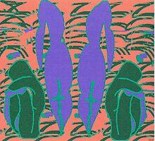 Lilac mirror- Digital abstract art Photographic Print