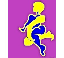 Purple nude- abstract digital figure drawing. Photographic Print