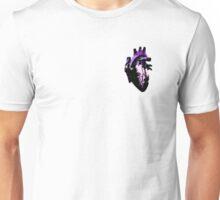 Porquaromantic/Porquasexual Pride Heart (with black detail) Unisex T-Shirt