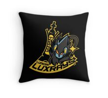 Lumiose Luxrays EXPNU Logo Throw Pillow