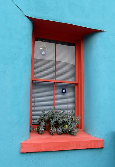 The Orange Trimmed Window by Lucinda Walter