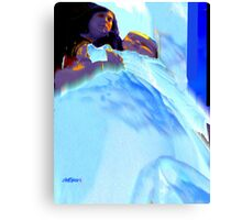 Blue Blanket Canvas Print